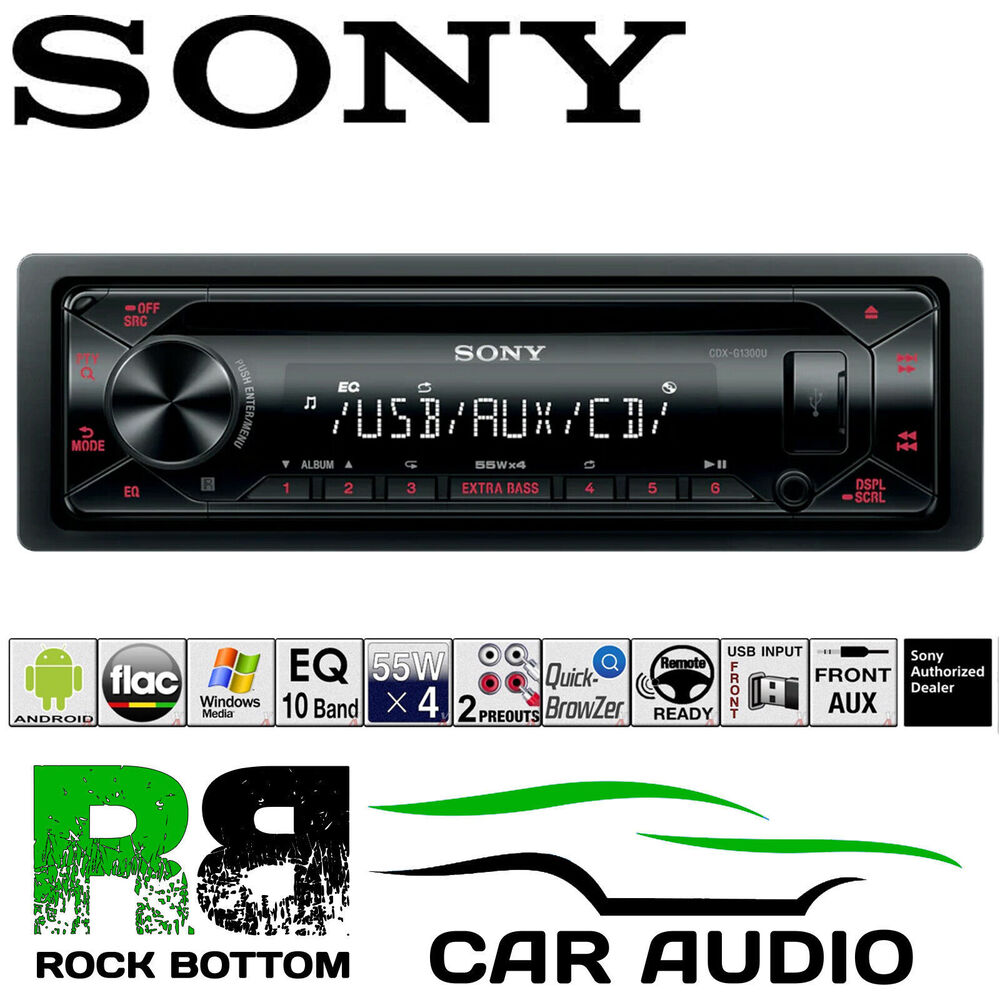 sony cdx g1200u 4x55w car stereo cd mp3 radio usb aux. Black Bedroom Furniture Sets. Home Design Ideas