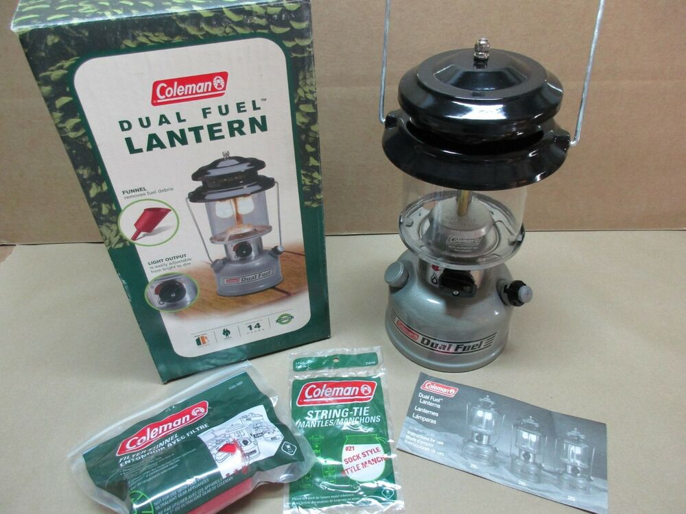 new in box coleman two mantle dual fuel lantern 285 700 free shipping ebay