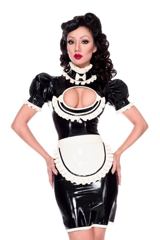 Latex maid uniform