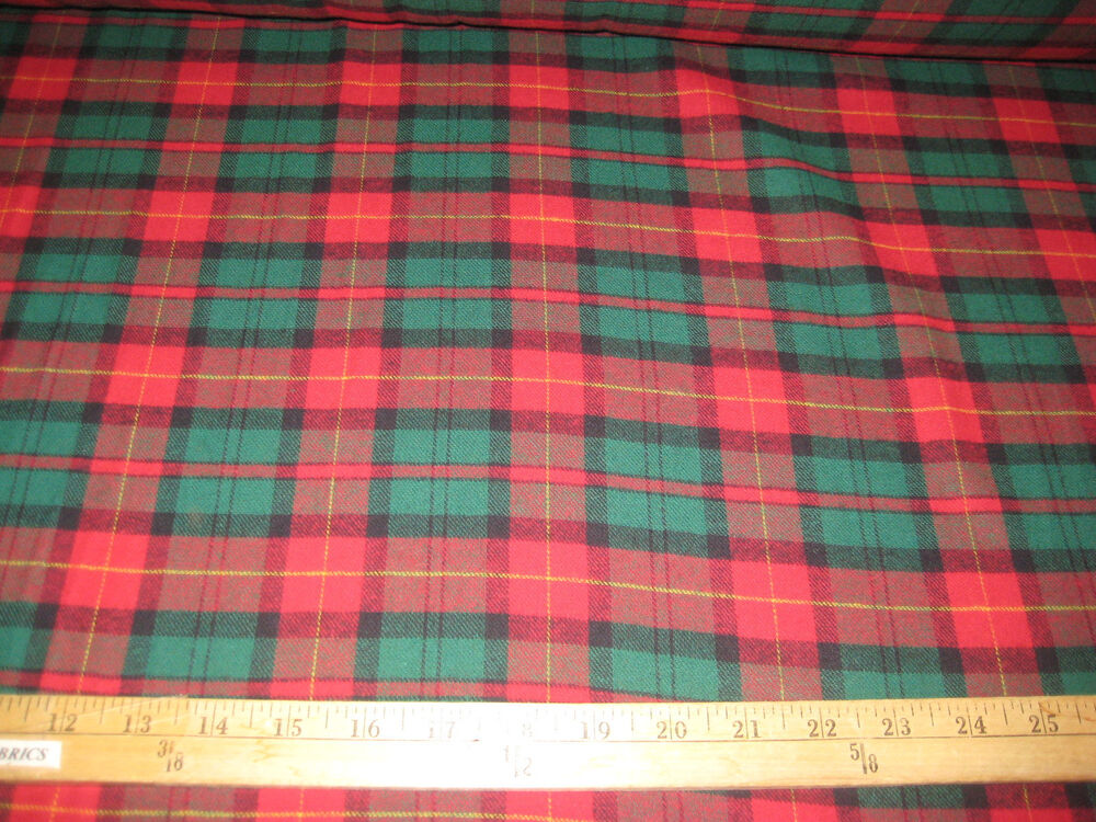 red hunter travis plaid100 cotton flannel fabric 58 wide sold by the yard ebay. Black Bedroom Furniture Sets. Home Design Ideas