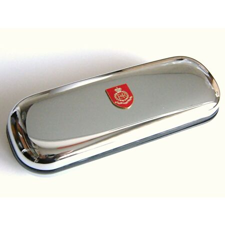 img-THE ROYAL MILITARY POLICE ARMY BADGE CRESTED CHROME PEN GLASSES OR DARTS CASE