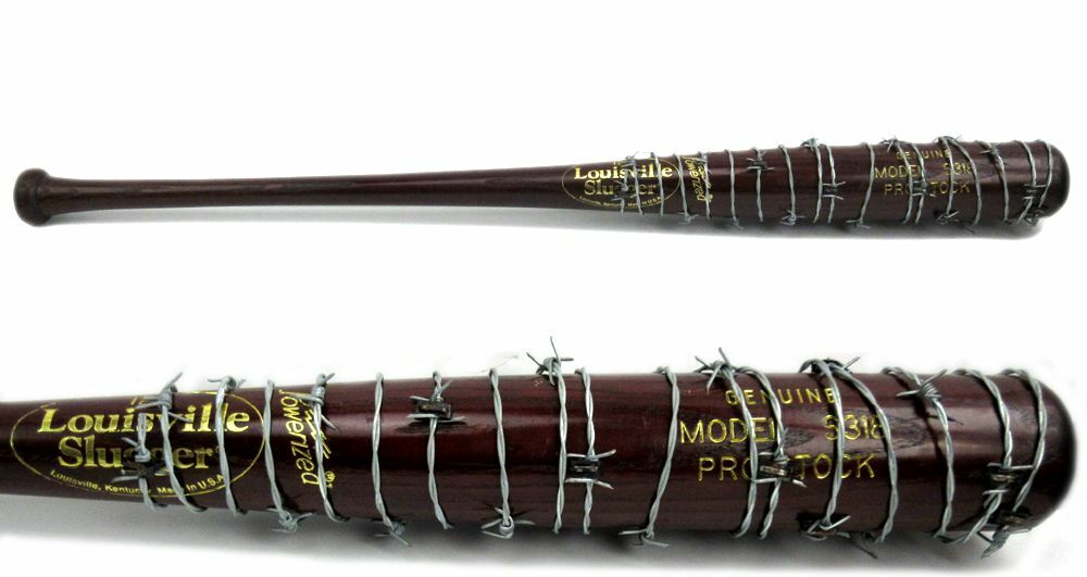 Custom barbed wire wrapped bat negan lucille the