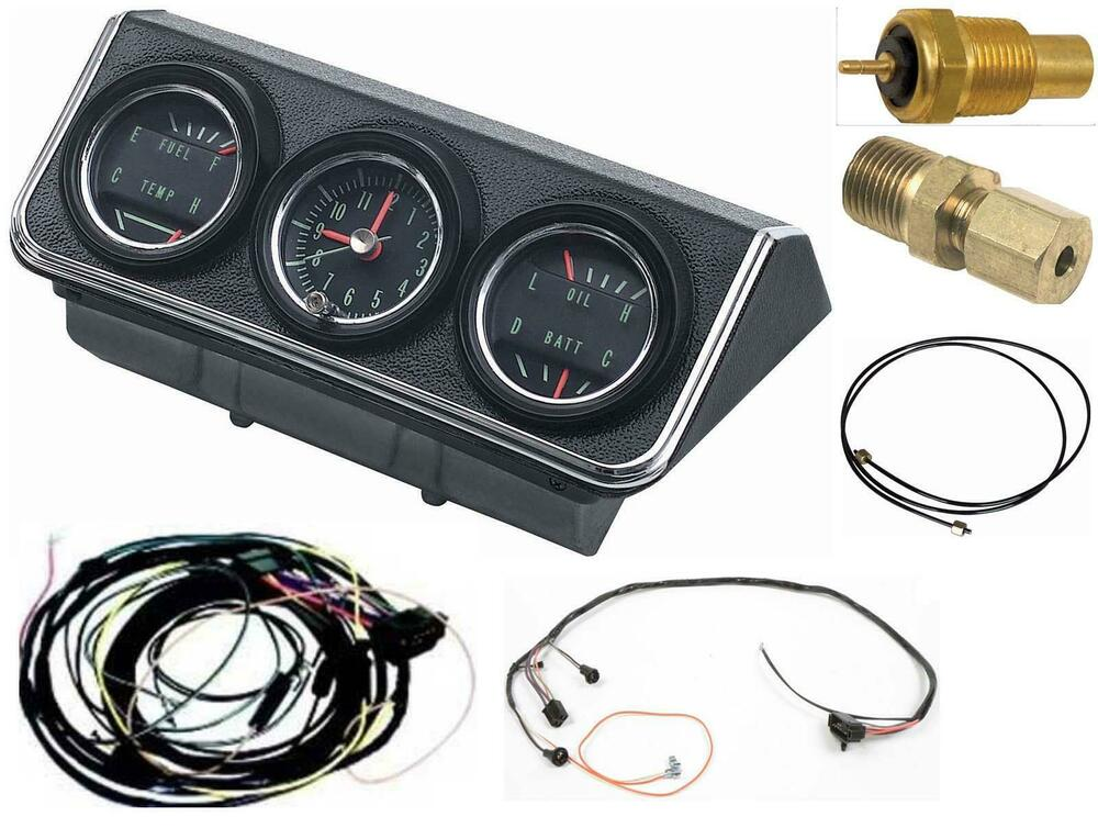 Oer 1967 Camaro Console Gauges W   Wiring Install Kit Mt 67