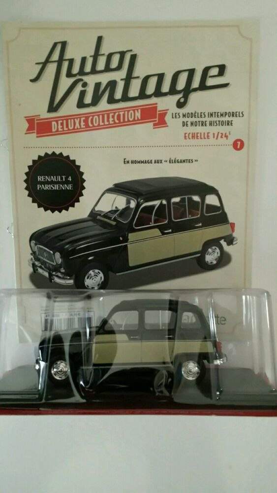 voiture miniature 1 24 renault 4 parisienne collection auto vintage ebay. Black Bedroom Furniture Sets. Home Design Ideas