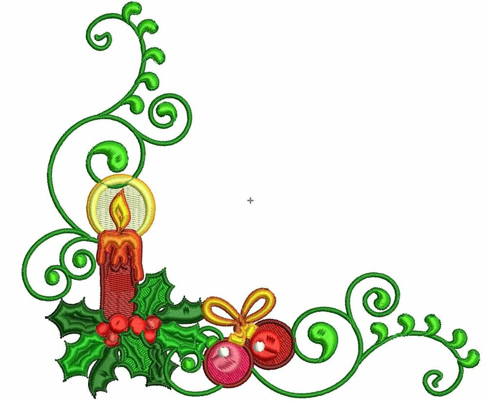 Christmas borders machine embroidery designs