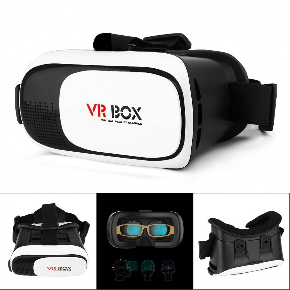 vr box virtual reality 3d glasses google cardboard tv movie game for ios android ebay. Black Bedroom Furniture Sets. Home Design Ideas