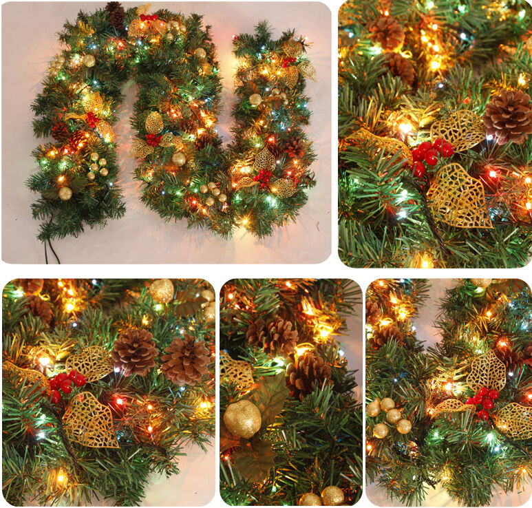 Christmas Garland String Lights : 270cm 106