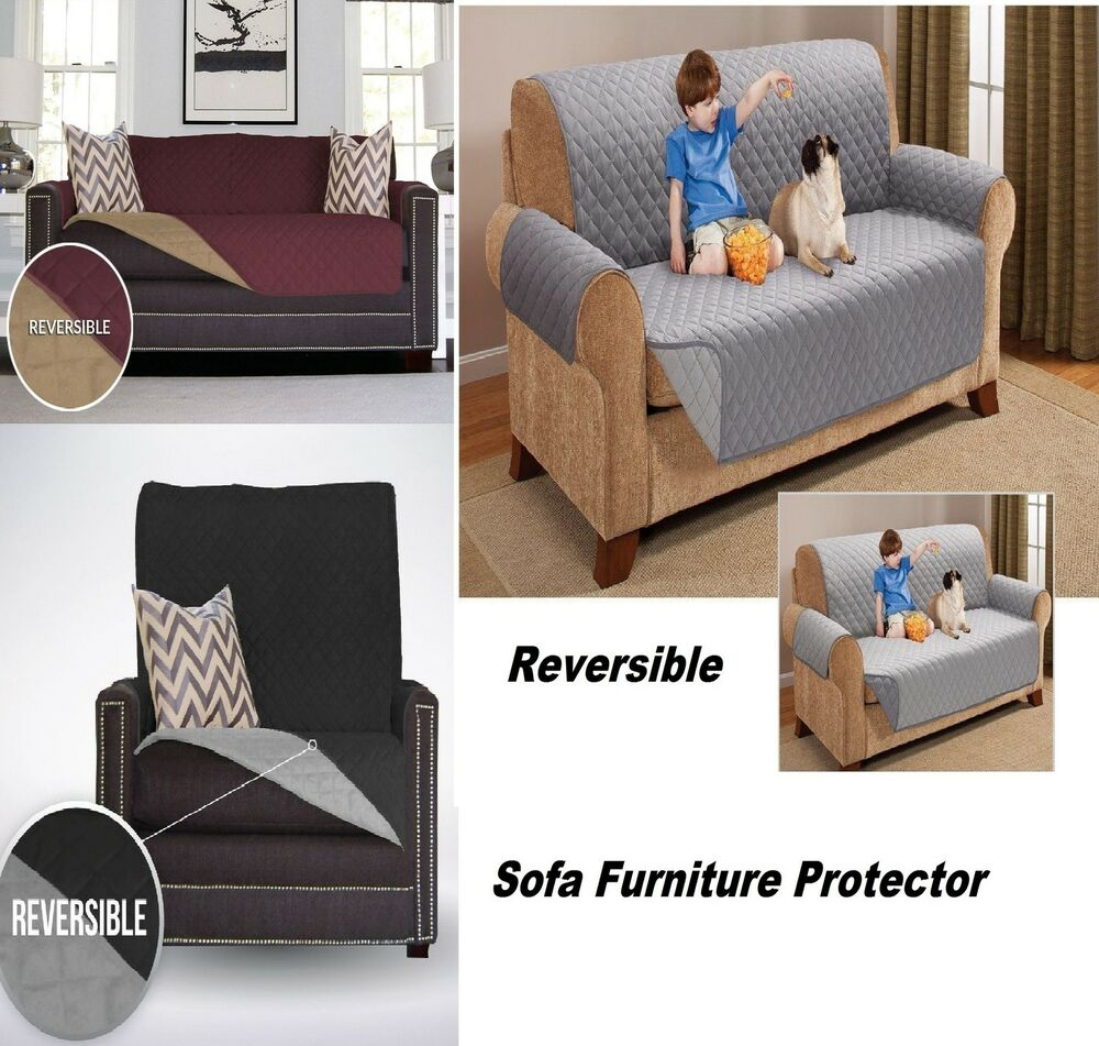 Reversible Furniture Throw Quilted Sofa Chair Settee Pet
