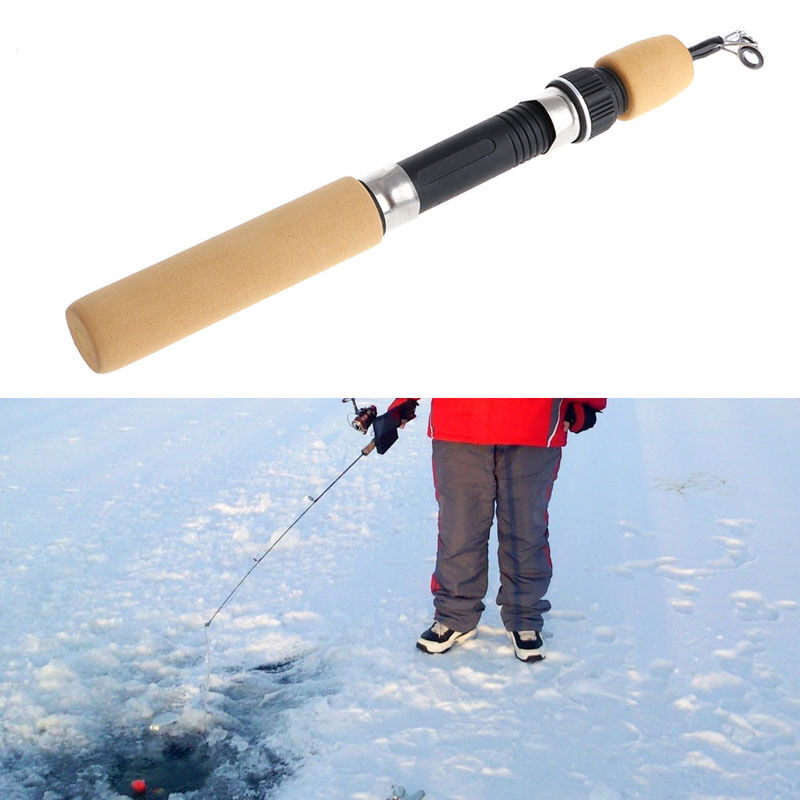 60cm pocket winter ice fishing fish rod mini tackle for Ebay fishing gear