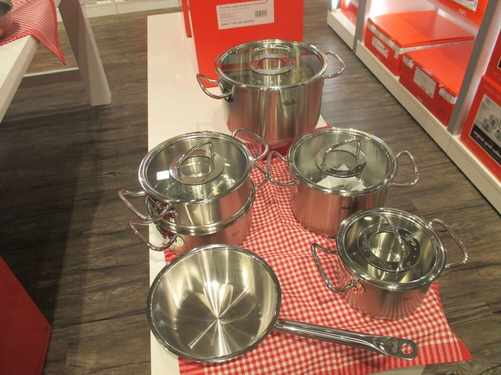 fissler orig profi collection topfset 6 tlg mit glasdeckel ebay. Black Bedroom Furniture Sets. Home Design Ideas