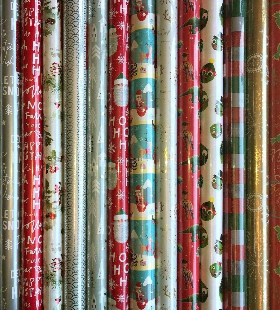 40 METRES WRAPPING PAPER GIFT WRAP CHRISTMAS BIRTHDAY