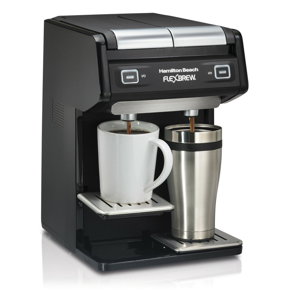 single cup coffee makers hamilton dual flexbrew single serve k cup or grounds 12254