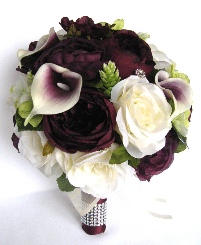 silk wedding bouquets packages 17 package wedding bouquets bridal silk flower 7421