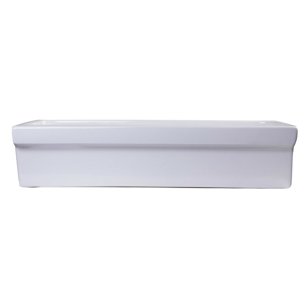 Afli White Porcelain 36 Inch Above Mount Trough Bath Sink Ebay