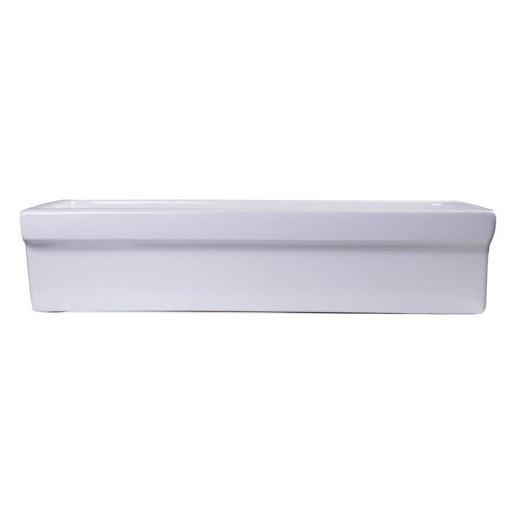 White Trough Bathroom Sink : Afli White Porcelain 36-inch Above-mount Trough Bath Sink eBay