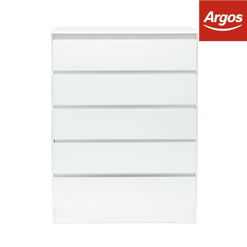 hygena inanna 5 drawer tall chest of drawers white from. Black Bedroom Furniture Sets. Home Design Ideas