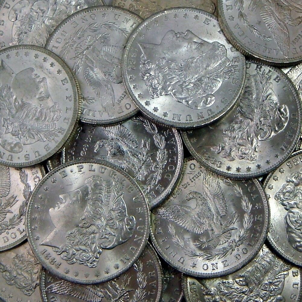 Brilliant Uncirculated Pre 1921 Morgan Silver Dollar Blast