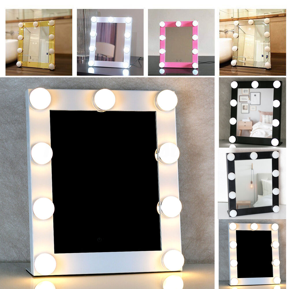 led vanity lighted hollywood makeup mirror with lights dimmer stage beauty touch ebay. Black Bedroom Furniture Sets. Home Design Ideas