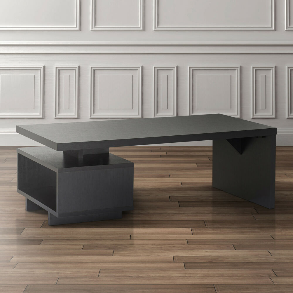 Furniture of america open cabinet coffee table ebay for Furniture of america coffee table