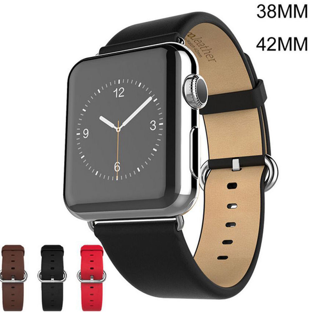 Luxury Genuine Leather Watch Band Strap for Apple Watch ...