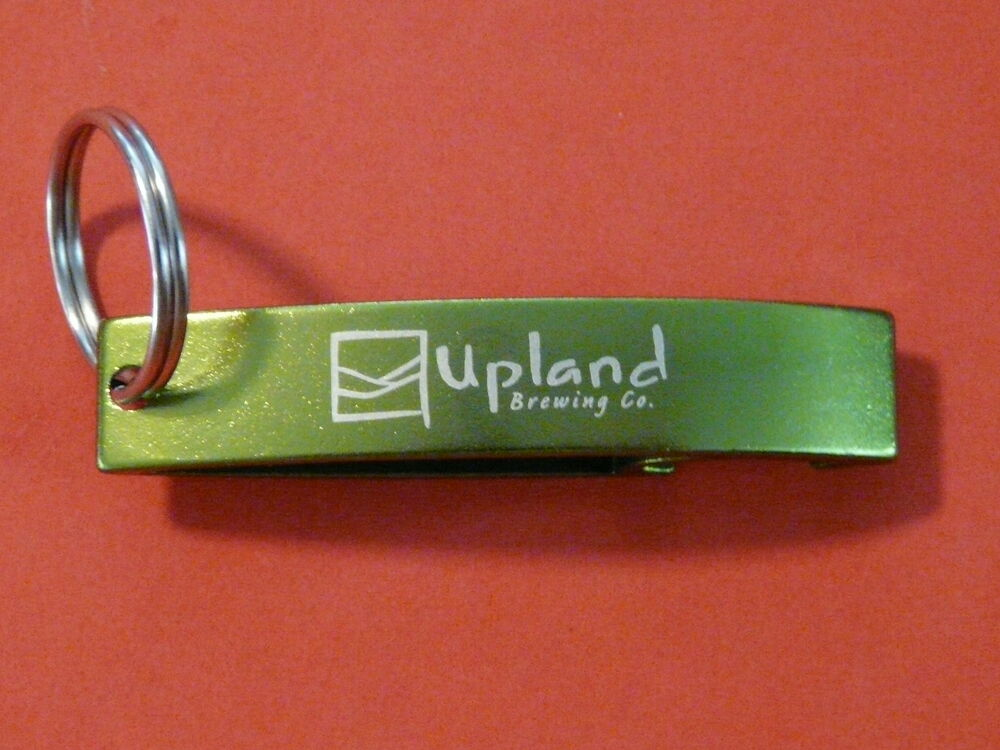 bottle cap opener upland brewing bloomington indiana craft brewer key chain ebay. Black Bedroom Furniture Sets. Home Design Ideas