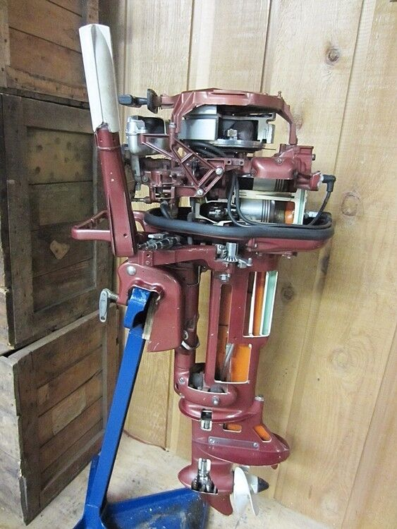Antique johnson sea horse 10 hp 1950s boat show factory for 10 hp boat motors
