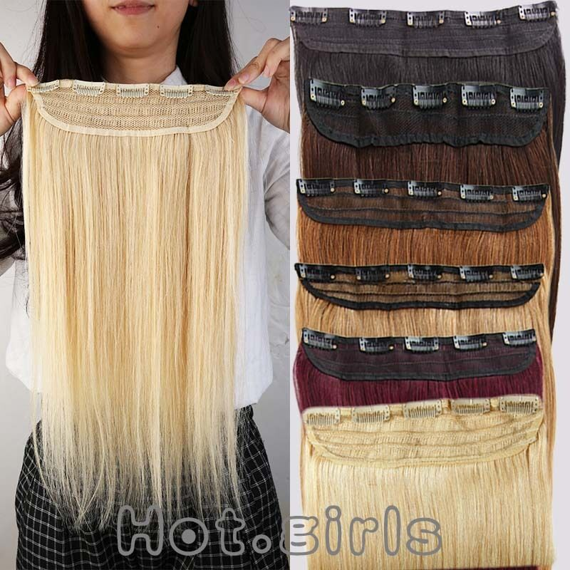 100g real clip in remy human hair extensions one piece 3
