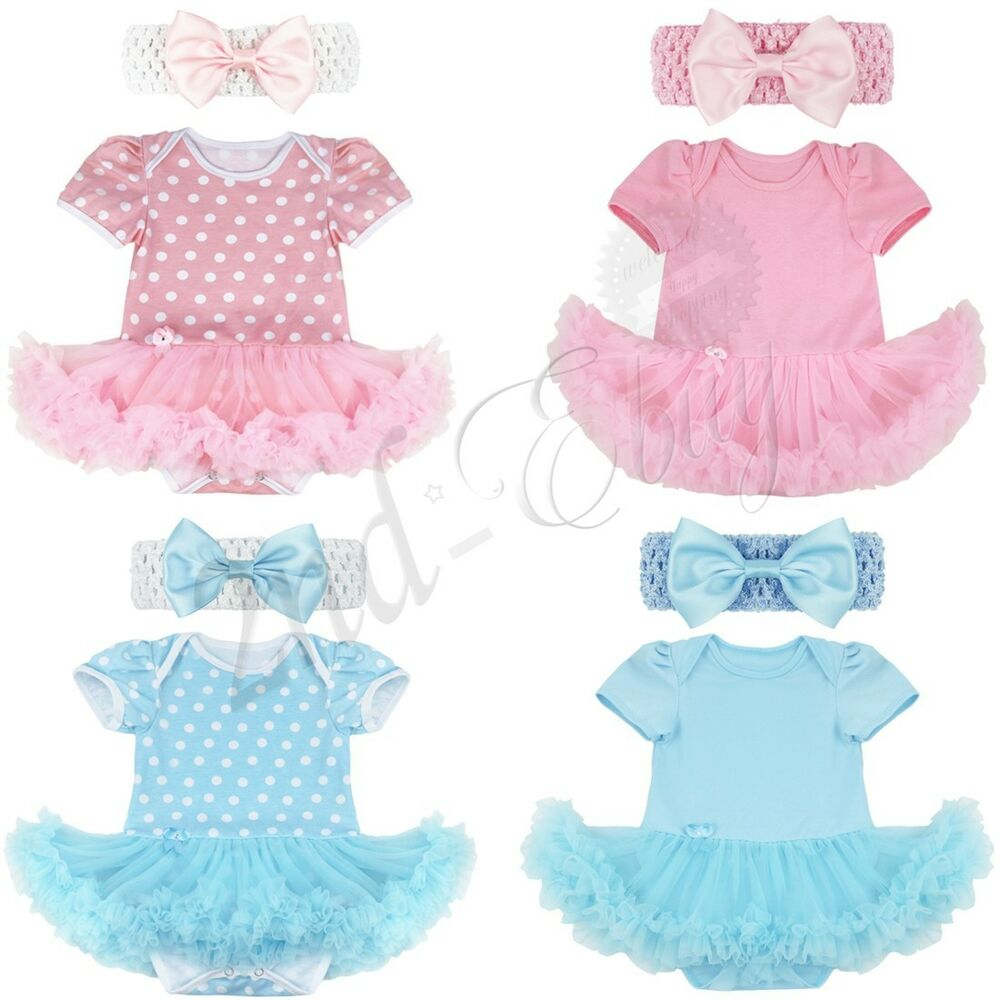 248443716 Details about Newborn Infant Baby Girls Outfit Clothes Romper Jumpsuit  Bodysuit Dress Headband
