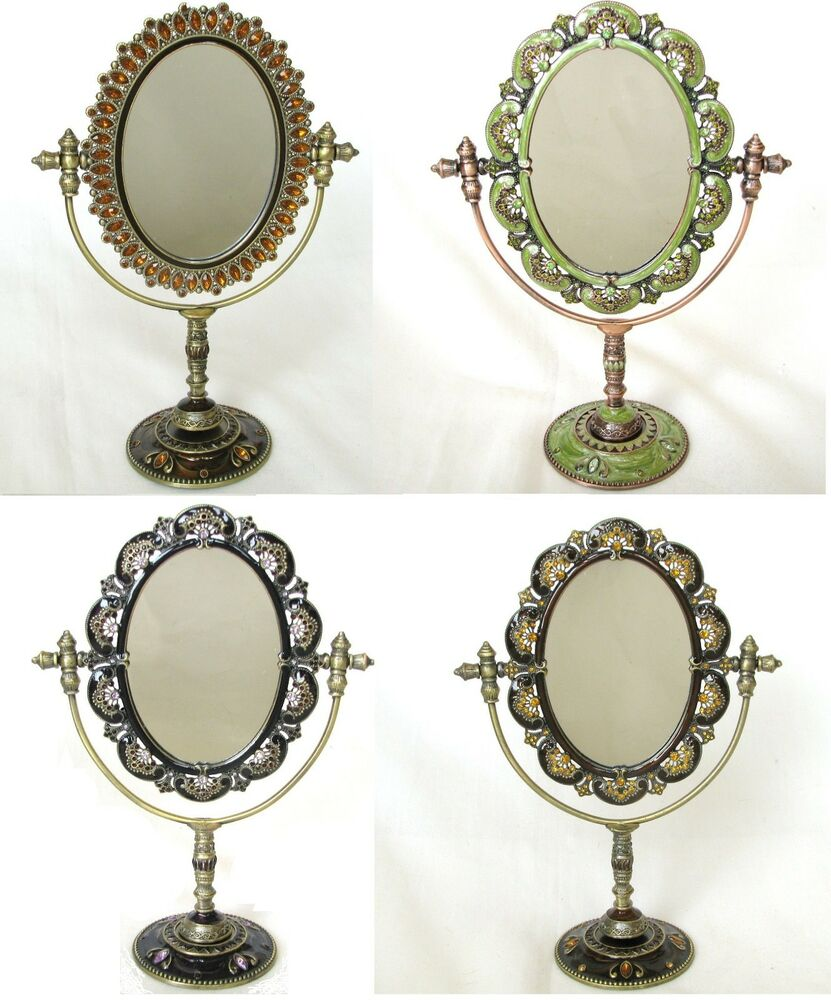 brass bathroom mirrors new floral vintage gold brass gem vanity bathroom 12158