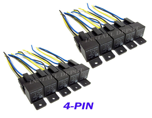10 Pair - 12V Automotive Relays & Wire Harness 4-PIN SPST 40 Amp LED  Pin Automotive Relay Switch Wiring Diagram on 1998 ford f-150 fuse box diagram, ford relay diagram, 4 pin relay connector, basic relay diagram, iso relay diagram, 4 pin tow electric diagram, light relay diagram, 4 pin trailer plug diagram, 4 pin trailer connector diagram, 4 pin trailer wiring, 4 pin relay schematic, 4 wire relay diagram, electrical relay diagram, 4 pin relay operation, relay function diagram, 4 pin micro relay, how does a relay work diagram, blower relay diagram, 11 pin relay base diagram, standard relay diagram,