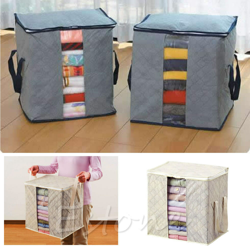 folding bamboo charcoal clothes sweater blanket closet. Black Bedroom Furniture Sets. Home Design Ideas