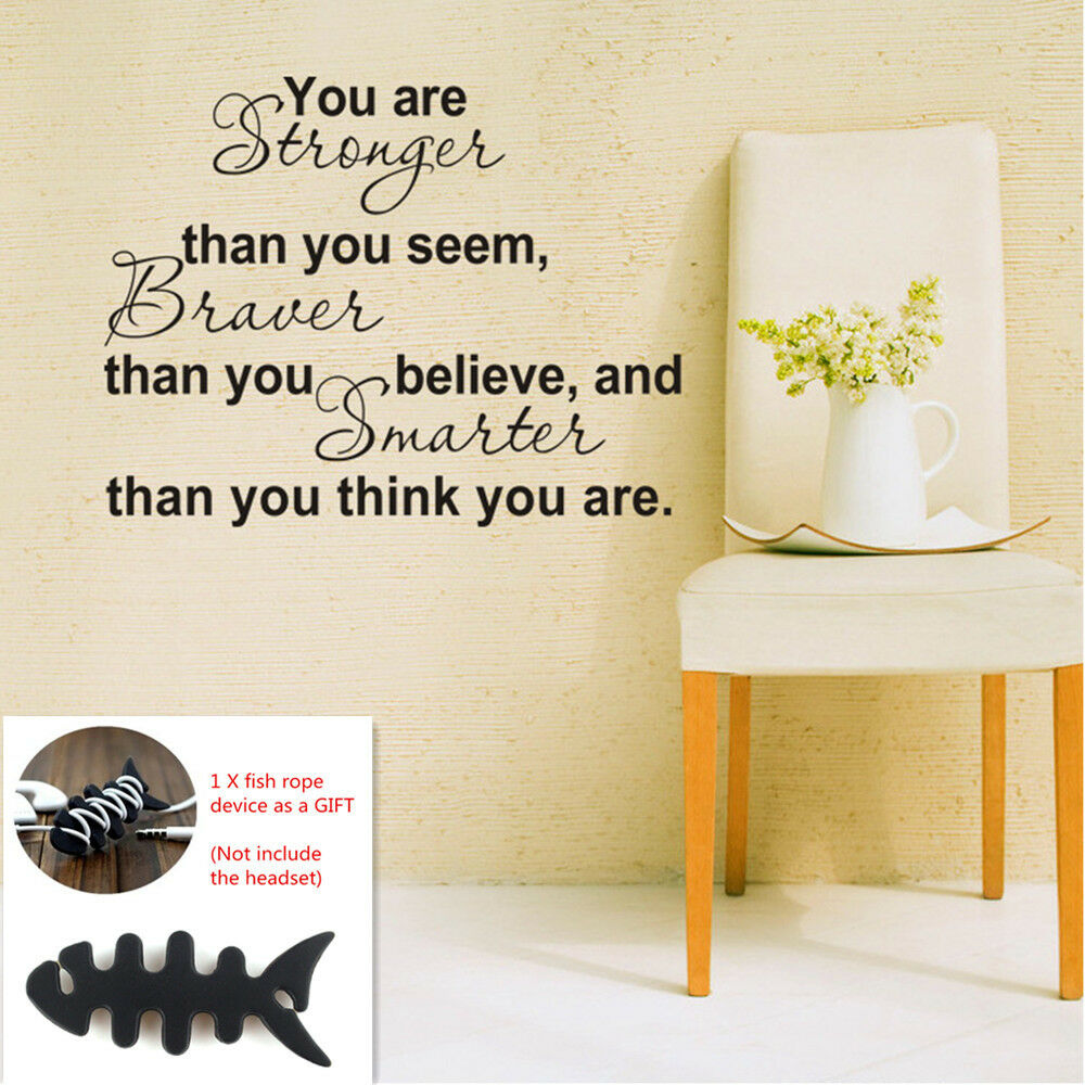You Are Stronger Than You Seem Wall Decal Vinyl Sticker Quote Winnie ...