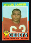 WILLIE LANIER chiefs ROOKIE 1971 TOPPS # 114 VERY GOOD