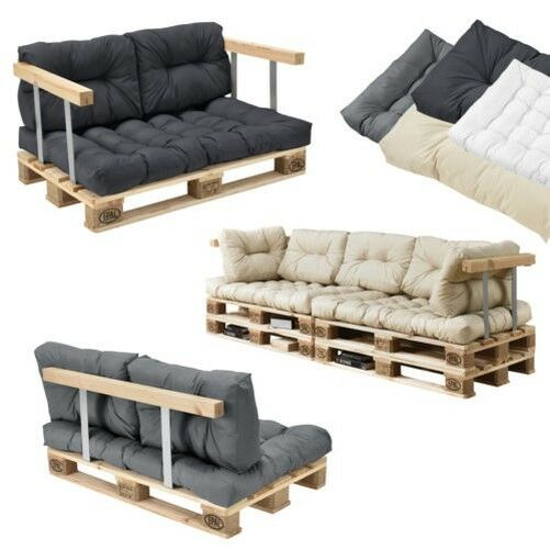 coussins de palette en ext rieur canap tapisserie si ge ebay. Black Bedroom Furniture Sets. Home Design Ideas