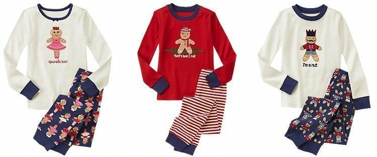 d064d254d656 NWT Gymboree GINGERBREAD MAN 2014 Christmas Holiday Pajamas Gymmies ...