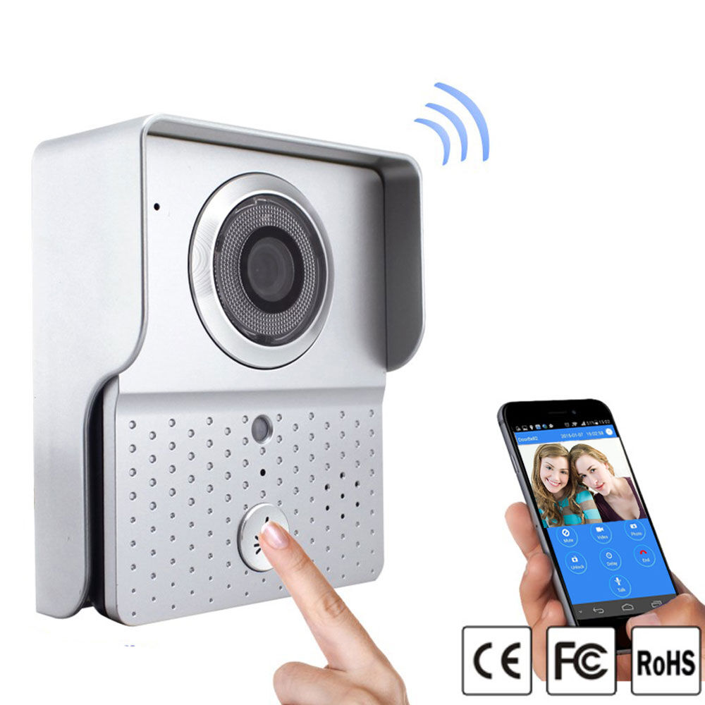 smart doorbell wireless wifi video ir camera door phone. Black Bedroom Furniture Sets. Home Design Ideas