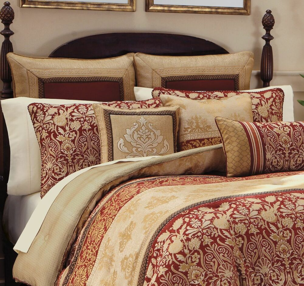 Croscill renaissance queen comforter shams bedskirt 4pc for Queen bed sets for sale