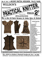 Weldon's 2D #4 c.1885 Victorian Era Knitting Patterns for Quilts, Shawls & More