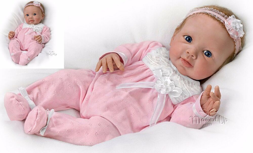 Adorable Addison Weighted Poseable Baby Doll With Rooted