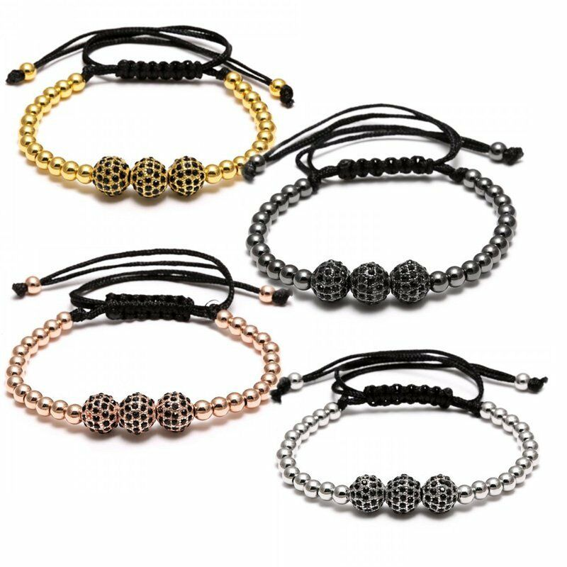 mens macrame bracelet 4colors unisex mens leather macrame bracelet 3355