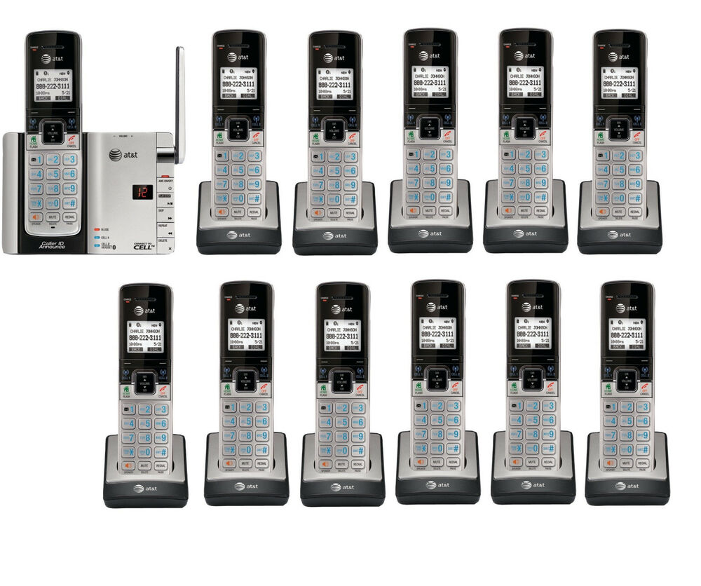 at t tl92273 dect 6 0 connect to cell bluetooth 12 handset cordless phone system ebay. Black Bedroom Furniture Sets. Home Design Ideas