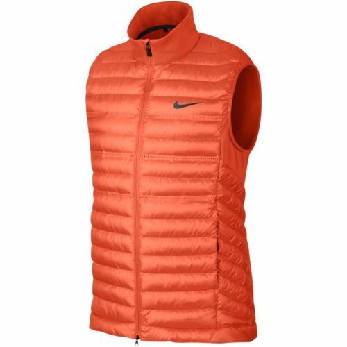 ab768ba4f12e Details about New mens  170 Nike 687020 AeroLoft Poly Filled orange Golf  Vest