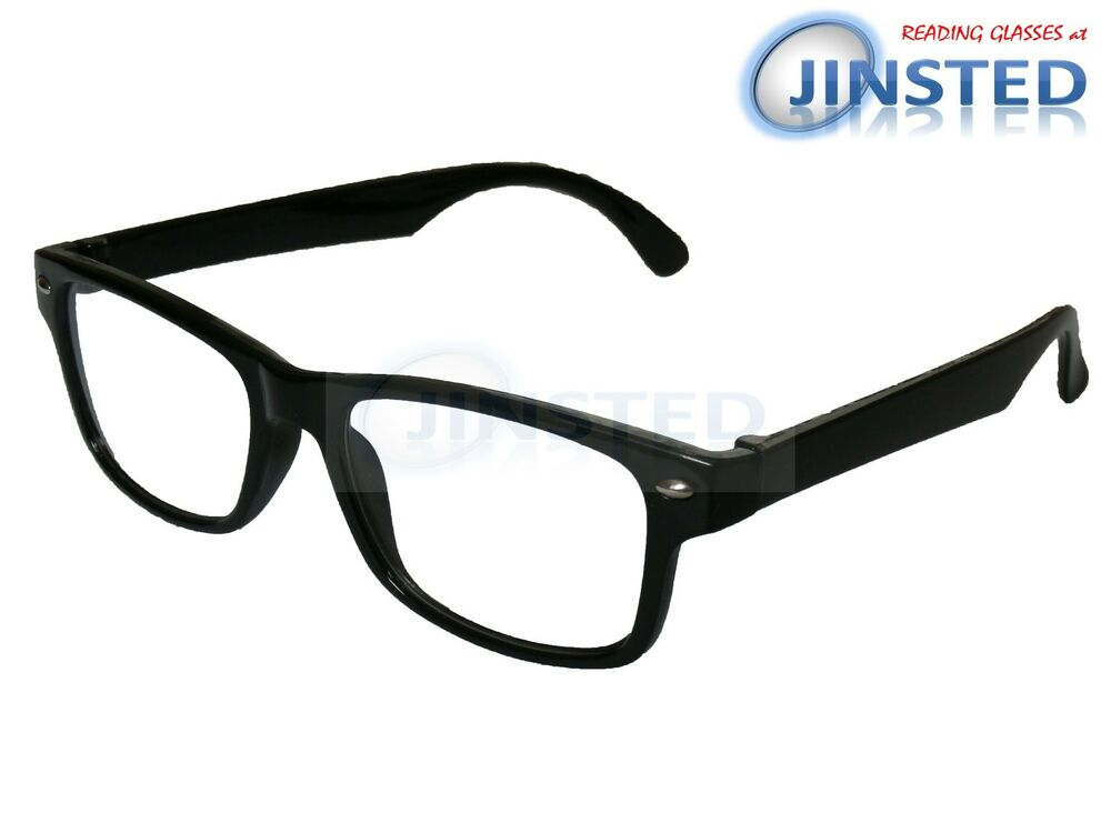 0477434512cf Black Reading Glasses Wayfarer Spectacles Specs Readers Long Sighted RG034