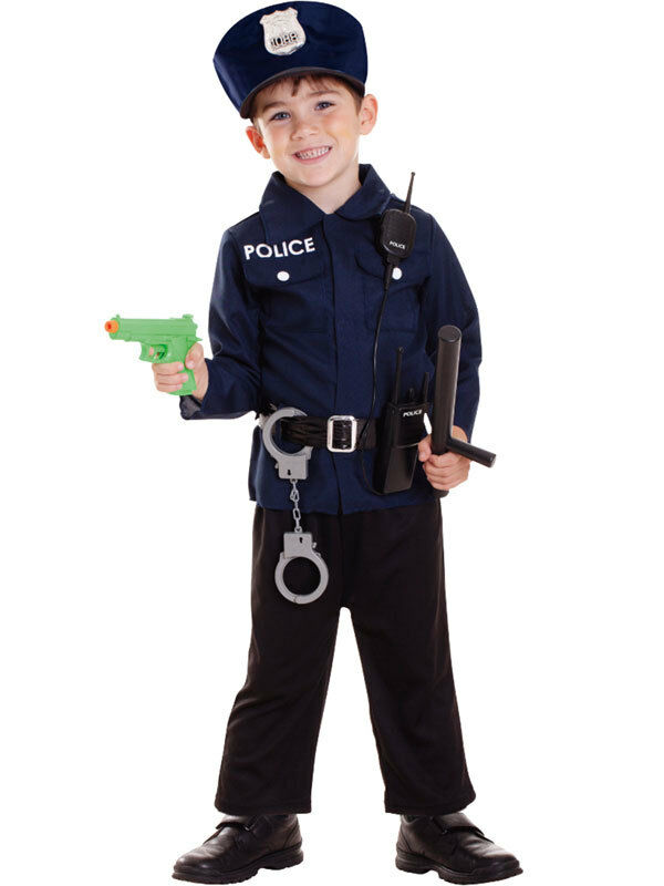 Child policeman fancy dress costume us cop police officer uniform accessories ebay - Police officer child costume ...