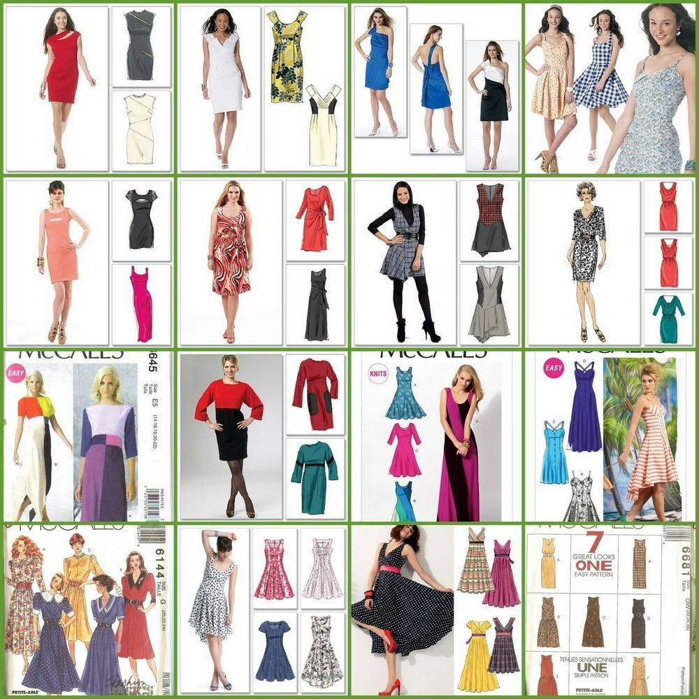 OOP McCalls Sewing Pattern Misses Plus Size Dress You Pick ...