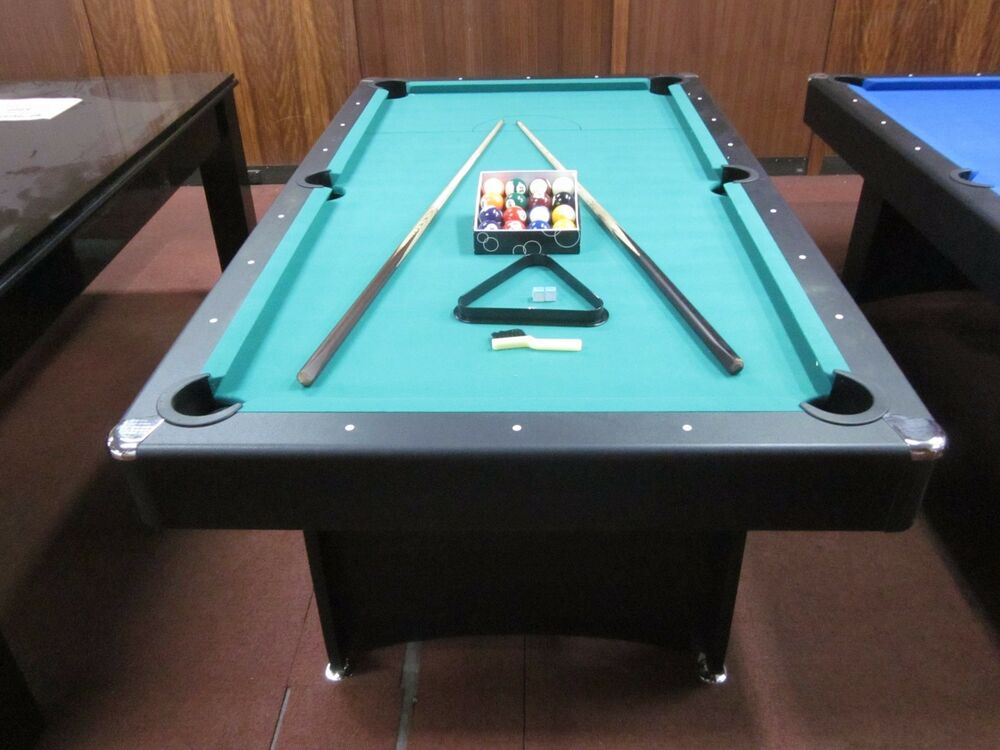 7 ft pool table with accessories package green felt ebay - Pool table green felt ...