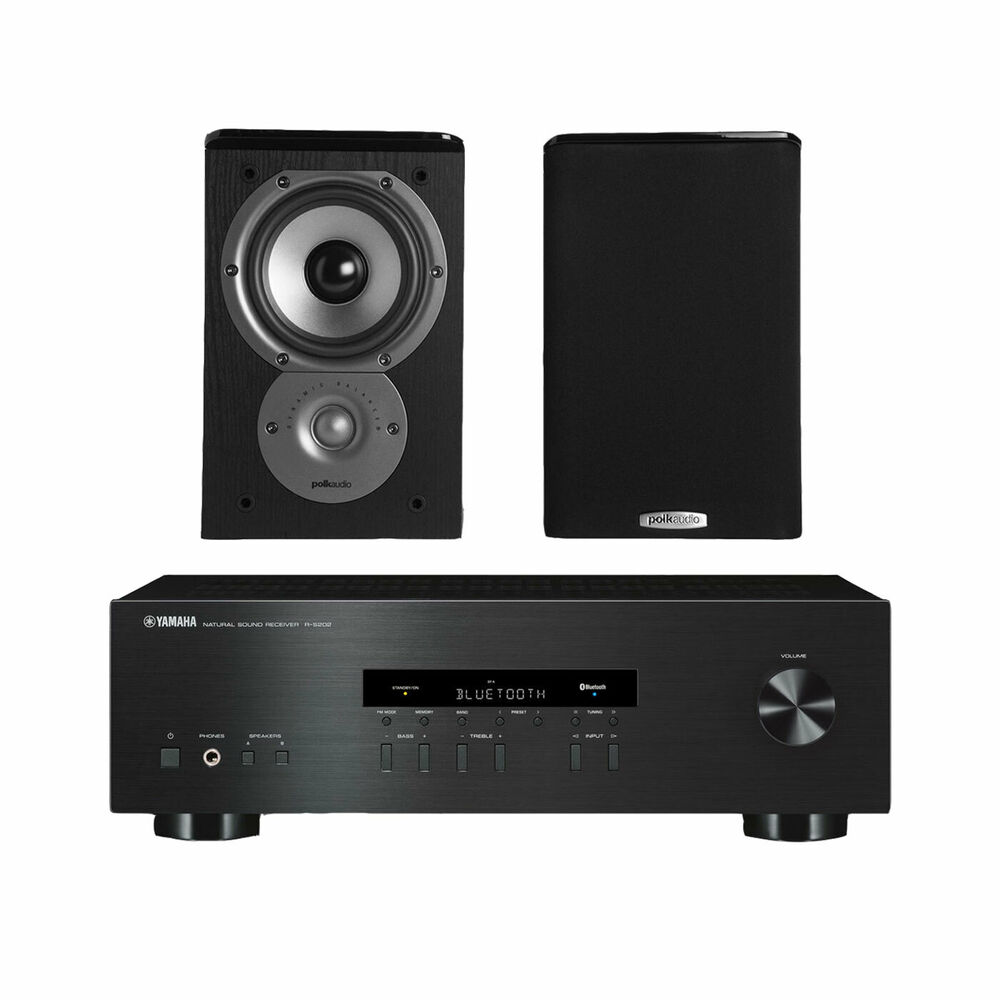 Yamaha rs202 stereo receiver polk tsi100 bookshelf for Yamaha stereo reciever