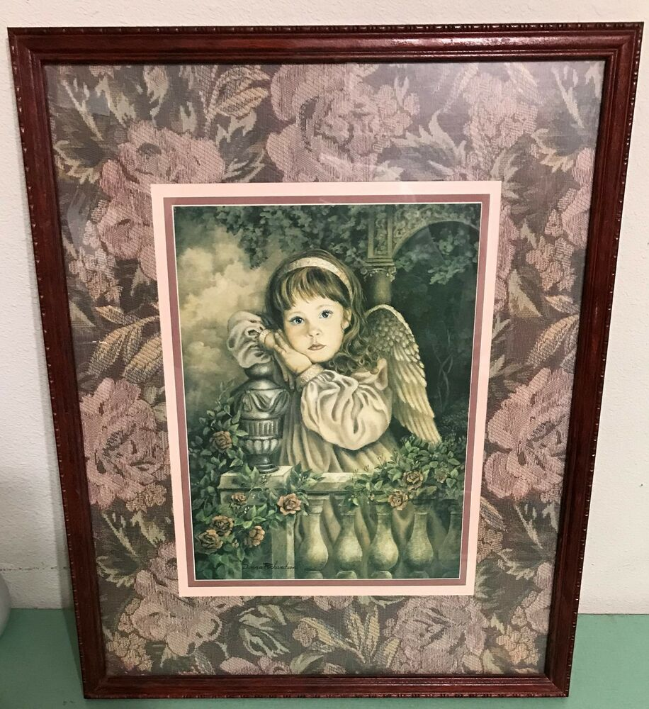 Homco Home Interiors Angel Unaware Picture Donna