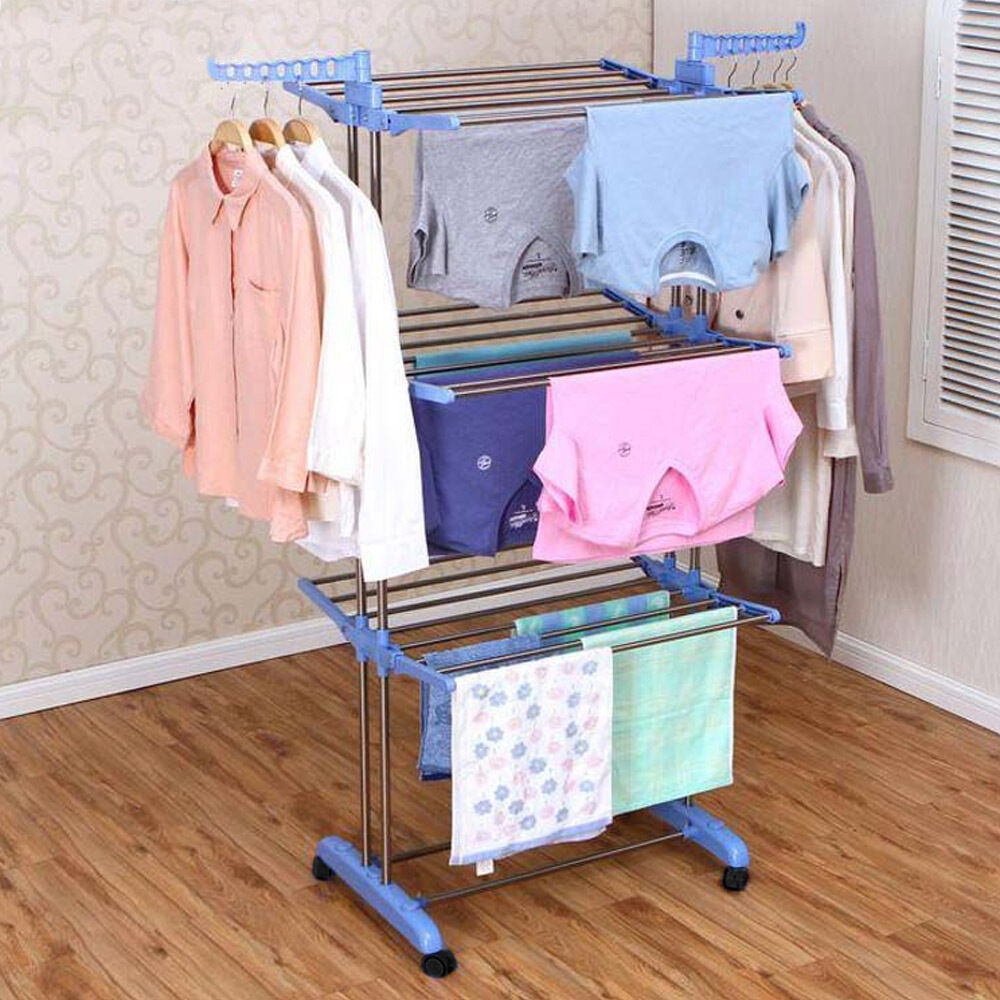 Extra Large Clothes Airer 3 Tier Indoor Outdoor Laundry