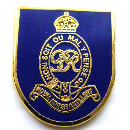 img-THE ROYAL HORSE ARTILLERY ARMY MILITARY LAPEL PIN BADGE FREE GIFT POUCH MOD APPR